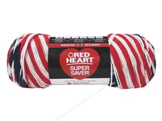 Red Heart Super Saver Yarn 236 yd. #3943 Americana
