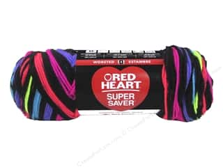 Red Heart Super Saver Yarn 236 yd. #3957 Neon Stripes