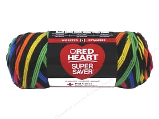 Red Heart Super Saver Yarn 236 yd. #3954 Primary Stripes