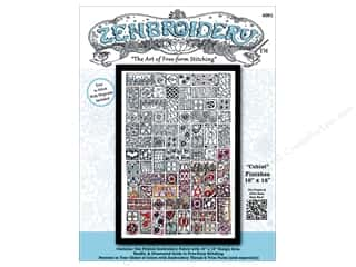 Design Works Zenbroidery Stamped Embroidery Fabric Kit 10 x 16 in. Cubist