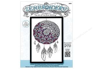 yarn: Design Works Zenbroidery Stamped Embroidery Fabric Kit 10 x 16 in. Dreamcatcher