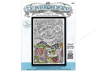 Design Works Zenbroidery Stamped Embroidery Fabric Kit 10 x 16 in. Dream