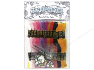 yarn & needlework: Design Works Zenbroidery Trim Pack Floss Pastels