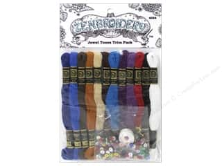 yarn & needlework: Design Works Zenbroidery Trim Pack Floss Jewel Tone