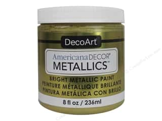 DecoArt: DecoArt Americana Decor Metallics 8 oz. Soft Gold