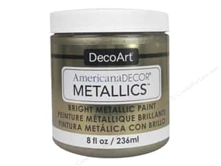 craft & hobbies: DecoArt Americana Decor Metallics 8 oz. Champagne Gold