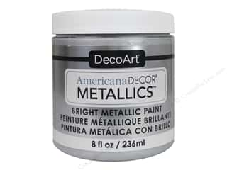 craft & hobbies: DecoArt Americana Decor Metallics 8 oz. Sterling Silver