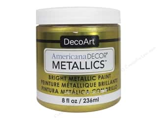 craft & hobbies: DecoArt Americana Decor Metallics 8 oz. 24K Gold