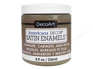 craft & hobbies: DecoArt Americana Decor Satin Enamel Paint 8 oz. Natural Sable
