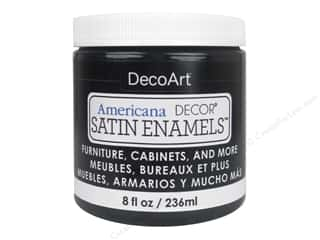 craft & hobbies: DecoArt Americana Decor Satin Enamel Paint 8 oz. Classic Black
