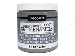 DecoArt Americana Decor Satin Enamel Paint 8 oz. Smoke Grey