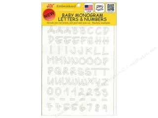 "Joy Applique Letter Iron On Monogram Baby 1/2"" Upper Case White"