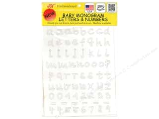 "sewing & quilting: Joy Applique Letter Iron On Monogram Baby 1/2"" Lower Case White"