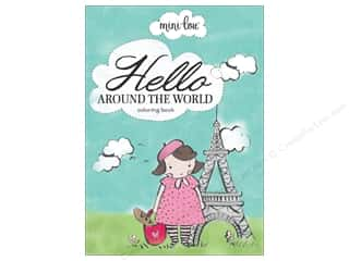 MiniLou Hello Around the World Mini Coloring Book