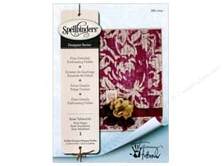 embossing folders: Spellbinders Embossing Folder Rose Tablecloth