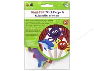 projects & kits: Multicraft Krafty Kids DIY Stick Foam Puppets Sea Creatures