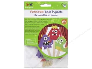projects & kits: Multicraft Krafty Kids DIY Stick Foam Puppets Monster Pals