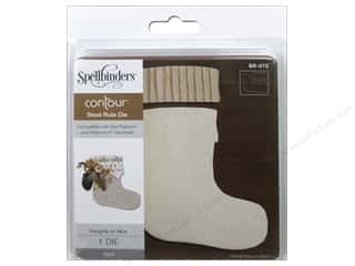 dies: Spellbinders Die Contour Steel Rule Naughty Or Nice Stocking