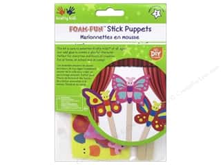projects & kits: Multicraft Krafty Kids DIY Stick Foam Puppets Flutter Friends