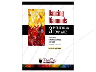 PlumEasy Patterns Interfacing Templates Dancing Diamonds 3pc