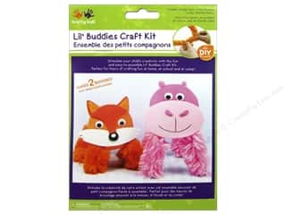 Kids Crafts: Multicraft Krafty Kids DIY Craft Kit Lil' Buddies Hippo/Fox (12 kits)