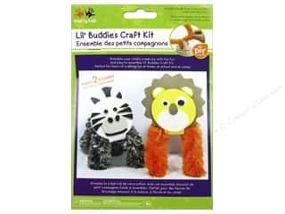 Kids Crafts: Multicraft Krafty Kids DIY Craft Kit Lil' Buddies Lion/Zebra (12 kits)