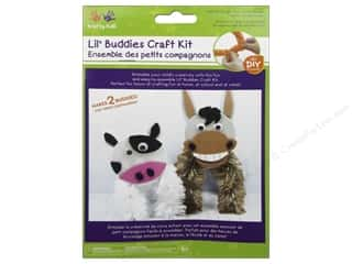 Kids Crafts: Multicraft Krafty Kids DIY Craft Kit Lil' Buddies Donkey/Cow (12 kits)