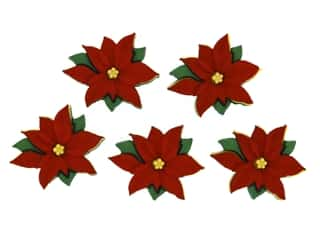 novelties: Jesse James Embellishments - Red Poinsettias