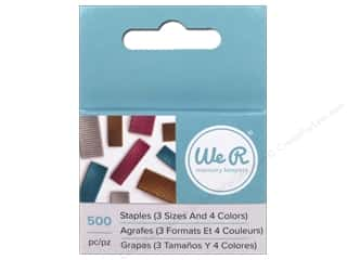 scrapbooking & paper crafts: We R Memory Keepers Multi Staple Pack 500 pc.