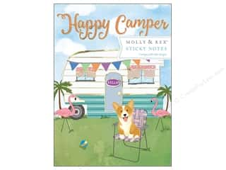 gifts & giftwrap: Molly & Rex Sticky Note Pad Portfolio Happy Camper