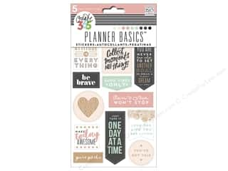 scrapbooking & paper crafts: Me&My Big Ideas Happy Planner Sticker Good Vibes Rose