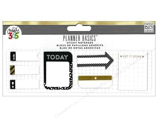 die cuts: Me&My Big Ideas Create 365 Happy Planner Sticky Notes Small Black, White & Gold
