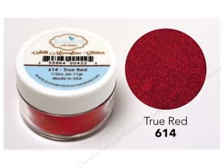 scrapbooking & paper crafts: Elizabeth Craft Silk Microfine Glitter 1/2 oz. True Red