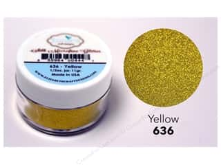 Elizabeth Craft Silk Microfine Glitter 1/2 oz. Yellow