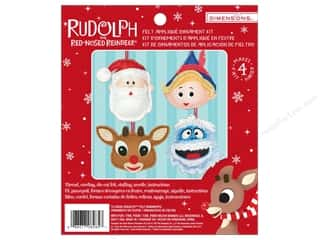 yarn & needlework: Dimensions Applique Kit Felt Ornaments Rudolph
