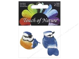 decorative bird: Midwest Design Artificial Birds 1 1/2 in. Mini Blue Jay 2 pc.