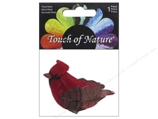 decorative bird: Midwest Design Artificial Birds 1 3/4 in. Red Cardinal 1 pc.