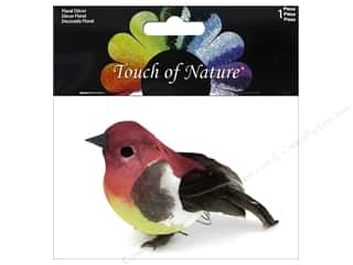 decorative bird: Midwest Design Artificial Birds 3 in. Feather Purple Finch 1 pc.