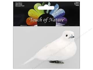 floral & garden: Midwest Design Artificial Birds 5 in. Dove White Feather Assorted 1 pc.