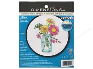 yarn & needlework: Dimensions Counted Cross Stitch Kit 6 in. Summer Flowers