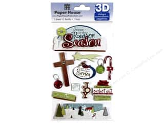 scrapbooking & paper crafts: Paper House Sticker 3D Reason for the Season