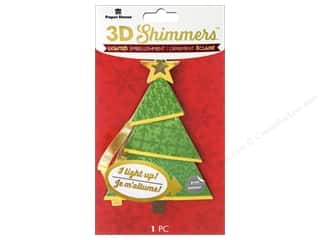 Clearance: Paper House Sticker 3D LED Shimmer Modern Christmas Tree