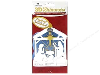Paper House Sticker 3D LED Shimmer Nativity