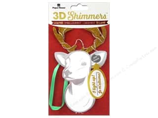 stickers: Paper House Sticker 3D LED Shimmer Deer Head