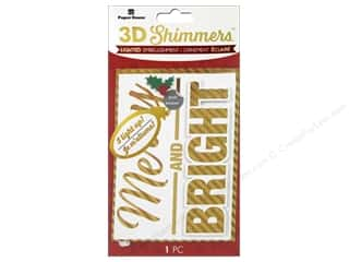 Paper House Sticker 3D LED Shimmer Merry & Bright