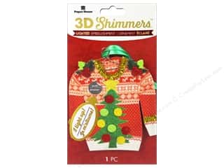 Clearance: Paper House Sticker 3D LED Shimmer Ugly Sweater