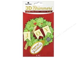 Clearance: Paper House Sticker 3D LED Shimmer Wreath