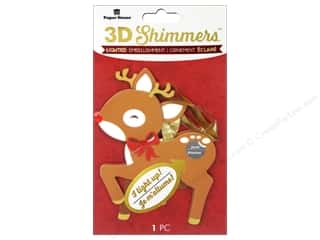 Paper House Sticker 3D LED Shimmer Reindeer