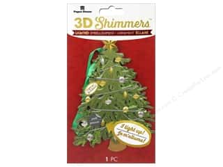 Paper House Sticker 3D LED Shimmer Traditional Christmas Tree