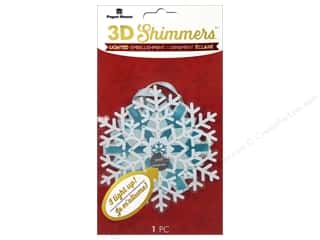 stickers: Paper House Sticker 3D LED Shimmer Snowflake